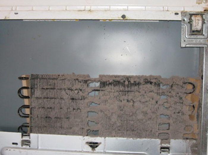 dirty refrigerator coils